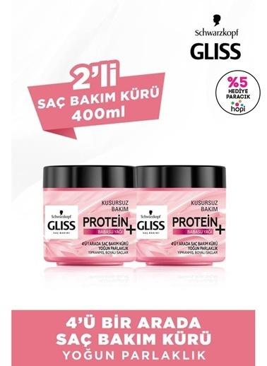 Gliss Gliss 4'Ü 1 Arada Yoğun Parlaklık Saç Bakım Maskesi 2'Li Renksiz